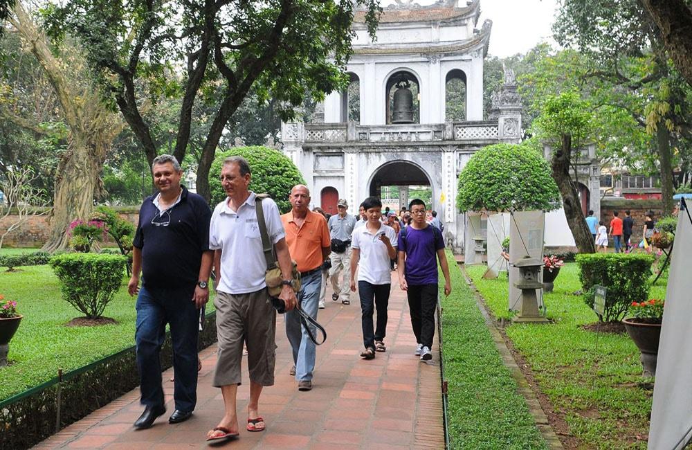 travelers in Hanoi
