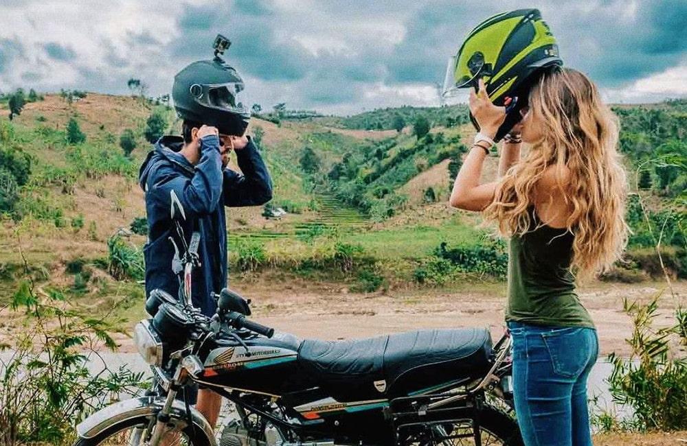 Riding motor to Nha Trang